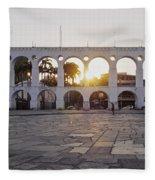 Carioca Aqueduct, Rio De Janeiro Fleece Blanket