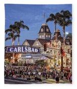 Carlsbad Village Sign Lighting Fleece Blanket