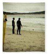 Carmel Beach, Ca Fleece Blanket