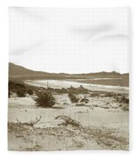 Carmel Beach, Carmel Point And Point Lobos Circa 1925 Fleece Blanket