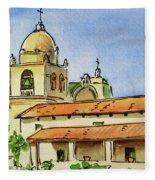 Carmel By The Sea - California Sketchbook Project  Fleece Blanket