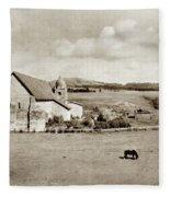 Carmel Mission Circa 1920 Fleece Blanket
