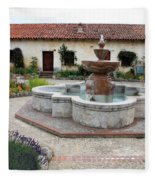 Carmel Mission Courtyard Fleece Blanket