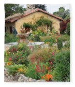 Carmel Mission Courtyard Garden Fleece Blanket