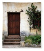 Carmel Mission Door Fleece Blanket