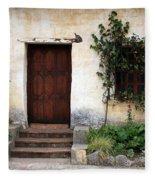 Carmel Mission Door Fleece Blanket