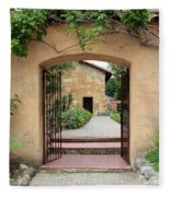 Carmel Mission Path Fleece Blanket