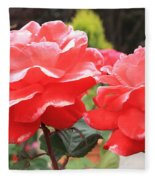 Carmel Mission Roses Fleece Blanket