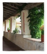Carmel Mission Walkway Fleece Blanket