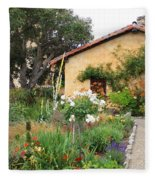 Carmel Mission With Path Fleece Blanket