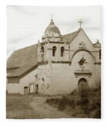 Carmel Mission  With The New Peaked Roof  1884 Fleece Blanket