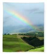 Carmel Valley Rainbow Fleece Blanket