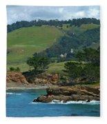 Carmelite Monastery Near Point Lobos Fleece Blanket