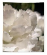 Carnation Blooms Fleece Blanket
