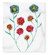 Carnations Fleece Blanket
