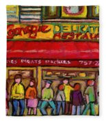 Carnegie's Deli Fleece Blanket