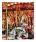 Carnival - The Carousel - Painted Fleece Blanket