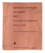 Carole Spandau Archived Liste Des Createurs Du Quebec 1972 Fleece Blanket