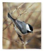 Carolina Chickadee - Birds At Bisset Park Fleece Blanket