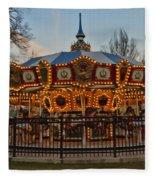 Carousel At Dusk Fleece Blanket