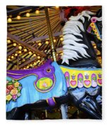 Carousel Horse 1 Fleece Blanket