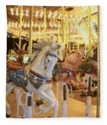 Carousel Horse 2 Fleece Blanket