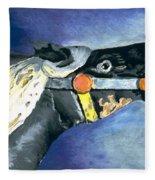 Carousel Horse 2 Fleece Blanket