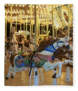 Carousel Horse 3 Fleece Blanket