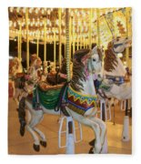 Carousel Horse 4 Fleece Blanket