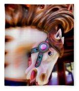 Carousel Horse Portrait Fleece Blanket