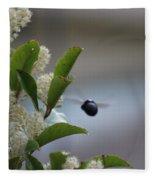 Carpenter Bee In Flight Fleece Blanket