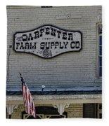 Carpenter Farm Supply Co Sign Fleece Blanket