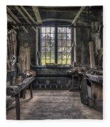 Carpenters Workshop In Gammelstilla, Sweden Fleece Blanket