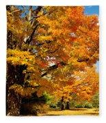 Carpet Of Leaves Fleece Blanket