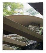Carport Fallingwater Frank Lloyd Wright Architect  Fleece Blanket