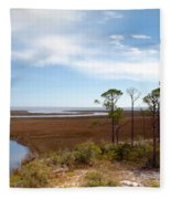 Carrabelle Salt Marshes Fleece Blanket