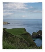 Carrick Island From Portaneevey Fleece Blanket