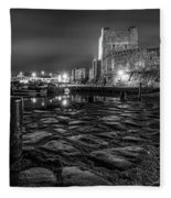 Carrickfergus Castle 7 Fleece Blanket