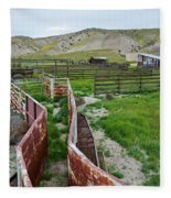 Carrizo Plain National Monument Ranch Fleece Blanket