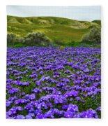 Carrizo Plain National Monument Wildflowers Fleece Blanket