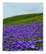 Carrizo Plain Phacelia Fleece Blanket