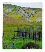 Carrizo Plain Ranch Wildflowers Fleece Blanket