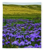Carrizo Plain Wildflowers Fleece Blanket