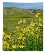 Carrizo Plain Yellow Daisies Fleece Blanket