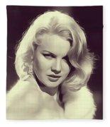 Carrol Baker, Vintage Actress Fleece Blanket