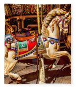 Carrousel Horse Ride Fleece Blanket