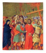 Carrying Of The Cross 1311 Fleece Blanket