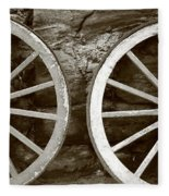 Cart Wheels Fleece Blanket