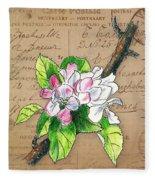 Carte Postale. Blossoming Apple Fleece Blanket