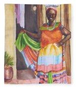 Cartegena Woman Fleece Blanket